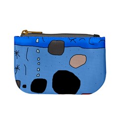 Blue abstraction Mini Coin Purses