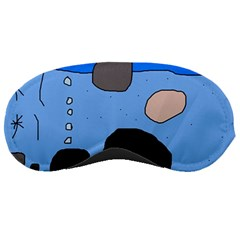 Blue abstraction Sleeping Masks