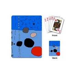 Blue abstraction Playing Cards (Mini)