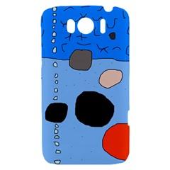 Blue abstraction HTC Sensation XL Hardshell Case