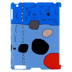 Blue abstraction Apple iPad 2 Hardshell Case (Compatible with Smart Cover)