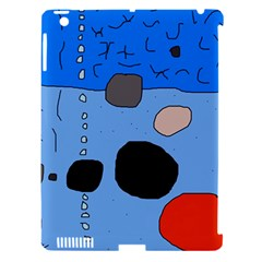 Blue abstraction Apple iPad 3/4 Hardshell Case (Compatible with Smart Cover)