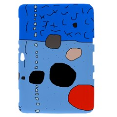 Blue abstraction Samsung Galaxy Tab 8.9  P7300 Hardshell Case
