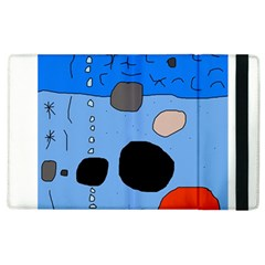 Blue abstraction Apple iPad 2 Flip Case