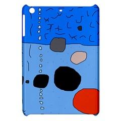 Blue abstraction Apple iPad Mini Hardshell Case