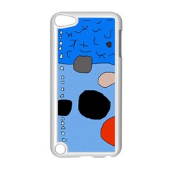 Blue abstraction Apple iPod Touch 5 Case (White)