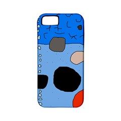 Blue abstraction Apple iPhone 5 Classic Hardshell Case (PC+Silicone)