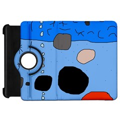 Blue abstraction Kindle Fire HD Flip 360 Case