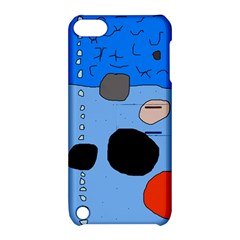 Blue abstraction Apple iPod Touch 5 Hardshell Case with Stand