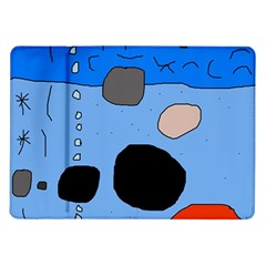 Blue abstraction Samsung Galaxy Tab 10.1  P7500 Flip Case