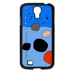 Blue abstraction Samsung Galaxy S4 I9500/ I9505 Case (Black)