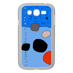 Blue abstraction Samsung Galaxy Grand DUOS I9082 Case (White)