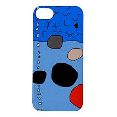 Blue abstraction Apple iPhone 5S/ SE Hardshell Case