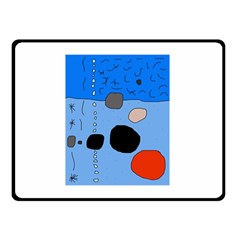 Blue abstraction Double Sided Fleece Blanket (Small)