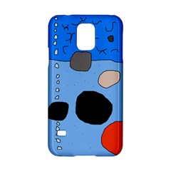 Blue abstraction Samsung Galaxy S5 Hardshell Case