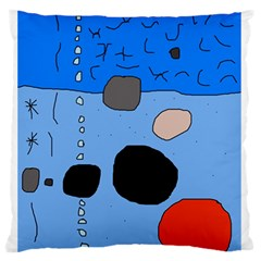 Blue abstraction Standard Flano Cushion Case (Two Sides)