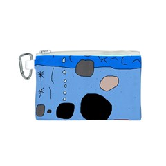 Blue abstraction Canvas Cosmetic Bag (S)
