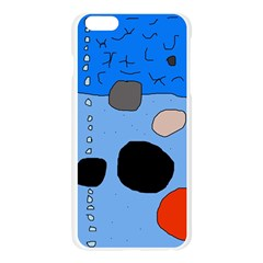 Blue abstraction Apple Seamless iPhone 6 Plus/6S Plus Case (Transparent)