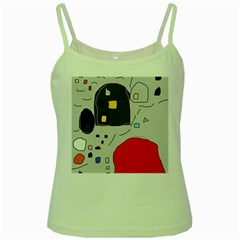Playful abstraction Green Spaghetti Tank