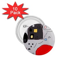 Playful abstraction 1.75  Buttons (10 pack)