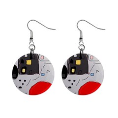 Playful abstraction Mini Button Earrings