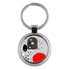 Playful abstraction Key Chains (Round)