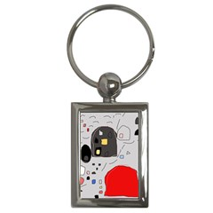 Playful abstraction Key Chains (Rectangle)