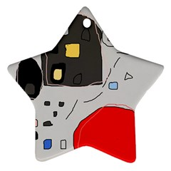 Playful abstraction Star Ornament (Two Sides)