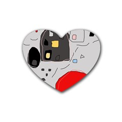 Playful abstraction Rubber Coaster (Heart)