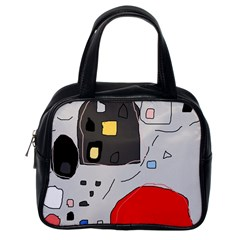 Playful Abstraction Classic Handbags (one Side)