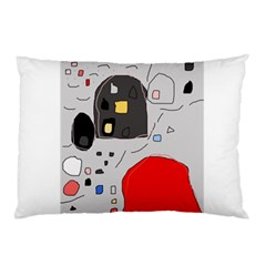 Playful abstraction Pillow Case