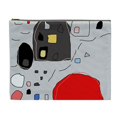 Playful abstraction Cosmetic Bag (XL)
