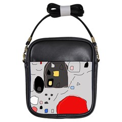 Playful abstraction Girls Sling Bags