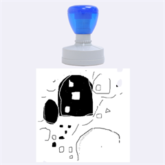 Playful abstraction Rubber Round Stamps (Large)