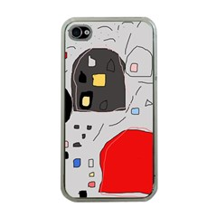 Playful abstraction Apple iPhone 4 Case (Clear)