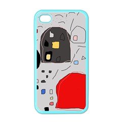Playful abstraction Apple iPhone 4 Case (Color)