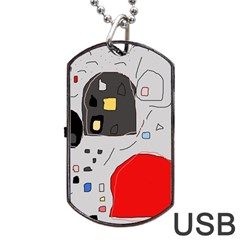 Playful abstraction Dog Tag USB Flash (Two Sides)