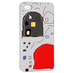 Playful abstraction Apple iPhone 4/4s Seamless Case (White)