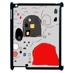 Playful abstraction Apple iPad 2 Case (Black)