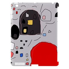 Playful abstraction Apple iPad 3/4 Hardshell Case (Compatible with Smart Cover)