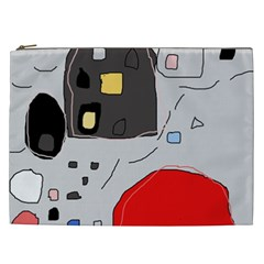 Playful abstraction Cosmetic Bag (XXL)