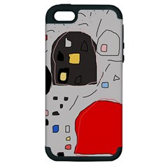 Playful abstraction Apple iPhone 5 Hardshell Case (PC+Silicone)