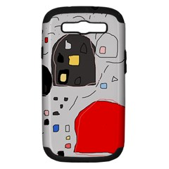 Playful abstraction Samsung Galaxy S III Hardshell Case (PC+Silicone)