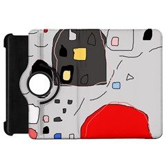 Playful abstraction Kindle Fire HD Flip 360 Case