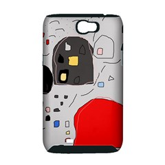 Playful abstraction Samsung Galaxy Note 2 Hardshell Case (PC+Silicone)