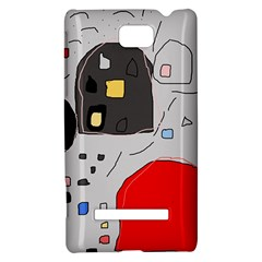 Playful abstraction HTC 8S Hardshell Case