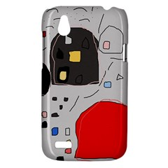 Playful abstraction HTC Desire V (T328W) Hardshell Case