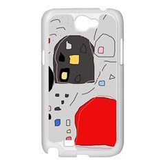 Playful abstraction Samsung Galaxy Note 2 Case (White)