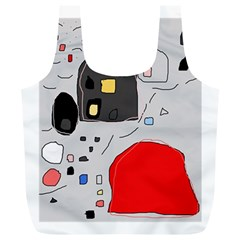 Playful abstraction Full Print Recycle Bags (L)