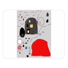 Playful abstraction Double Sided Flano Blanket (Large)